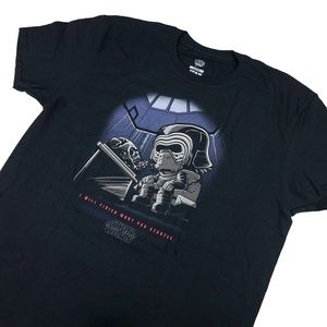 Funko Pop Tees Shirts - Funko Pop Tees STARWARS - Kylo Ren Black T-shirt